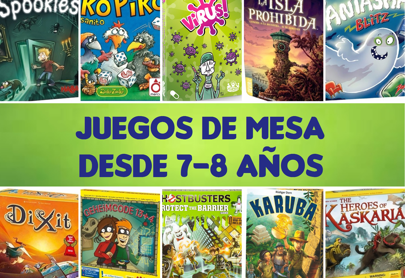 10 Juegos De Mesa Familiares Para Niños Y Niñas Desde 7 8 Años Bam