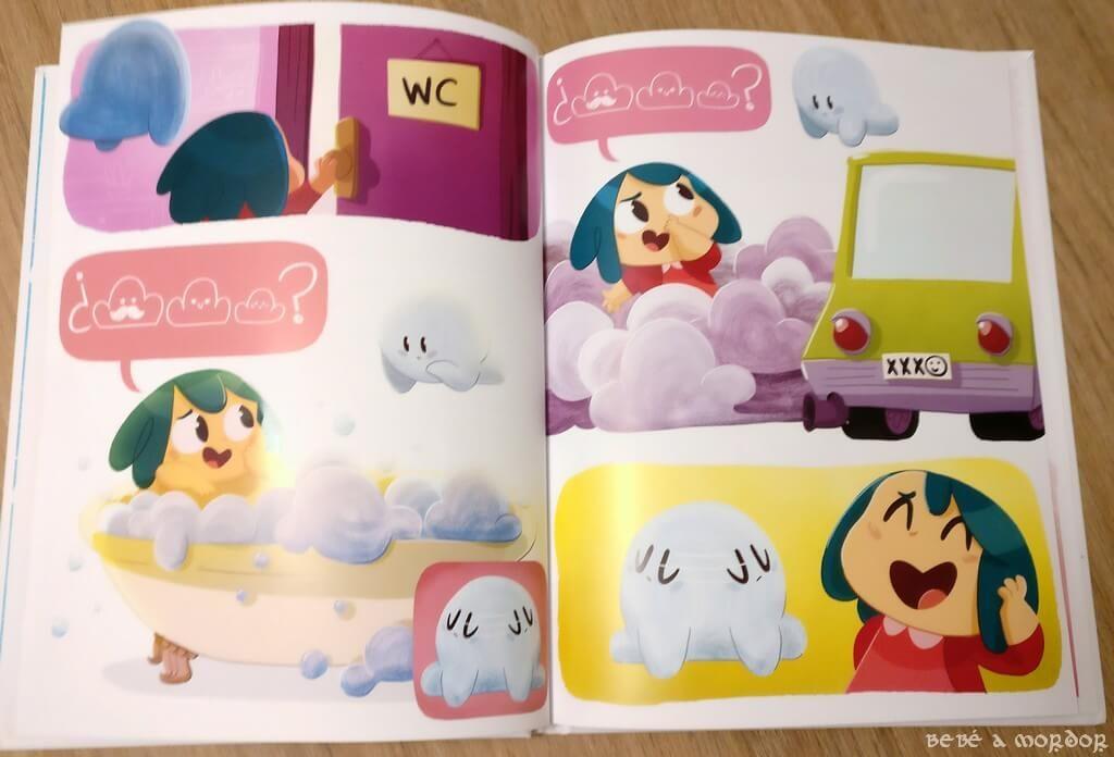 cómic infantil Cloe y la nube de Sallybooks sin texto para niños desde 3 años