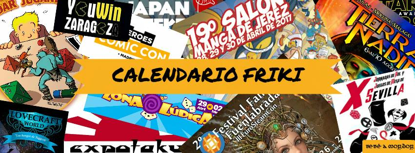 Calendario Friki by Bebé a Mordor