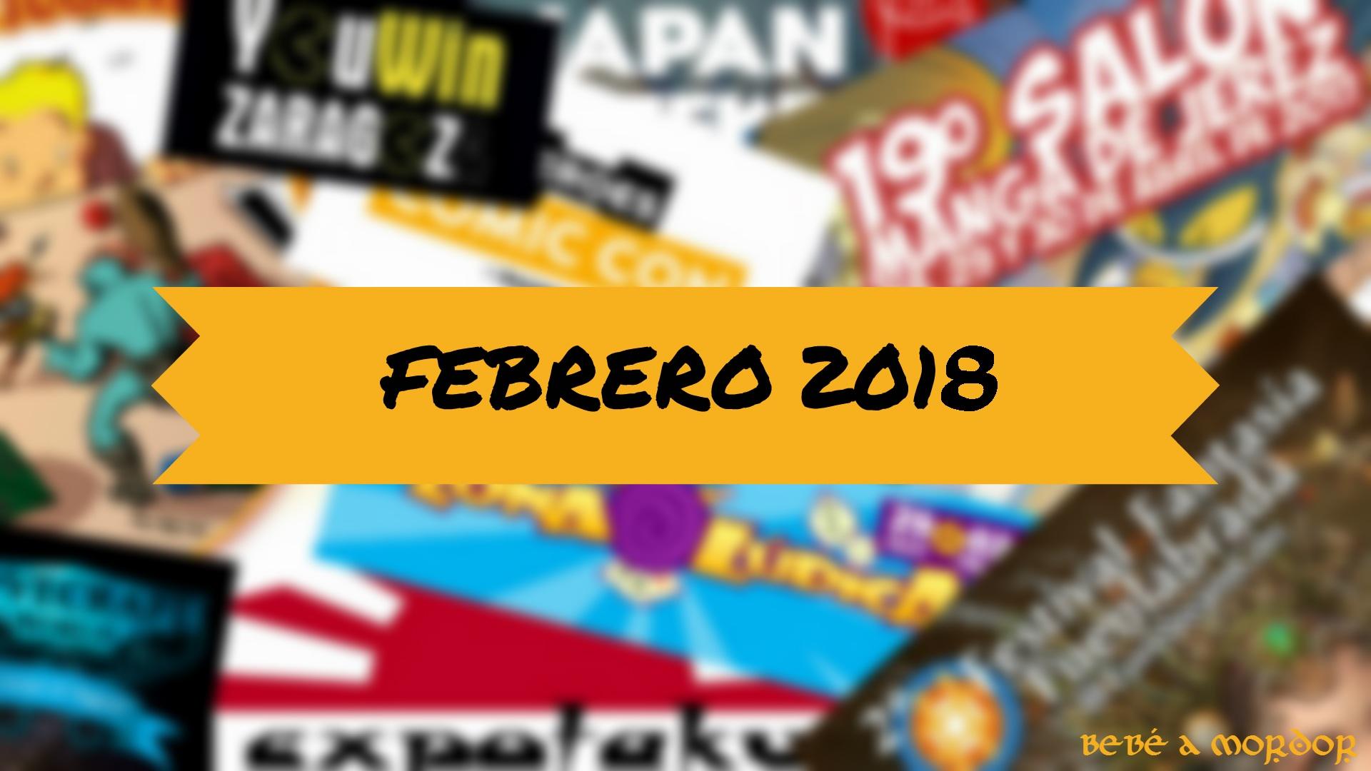 Calendario Friki Febrero 2018