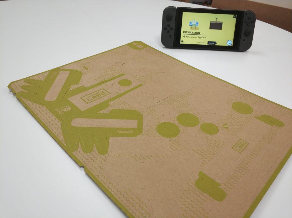 Nintendo Labo Crea antenauta plancha cartón