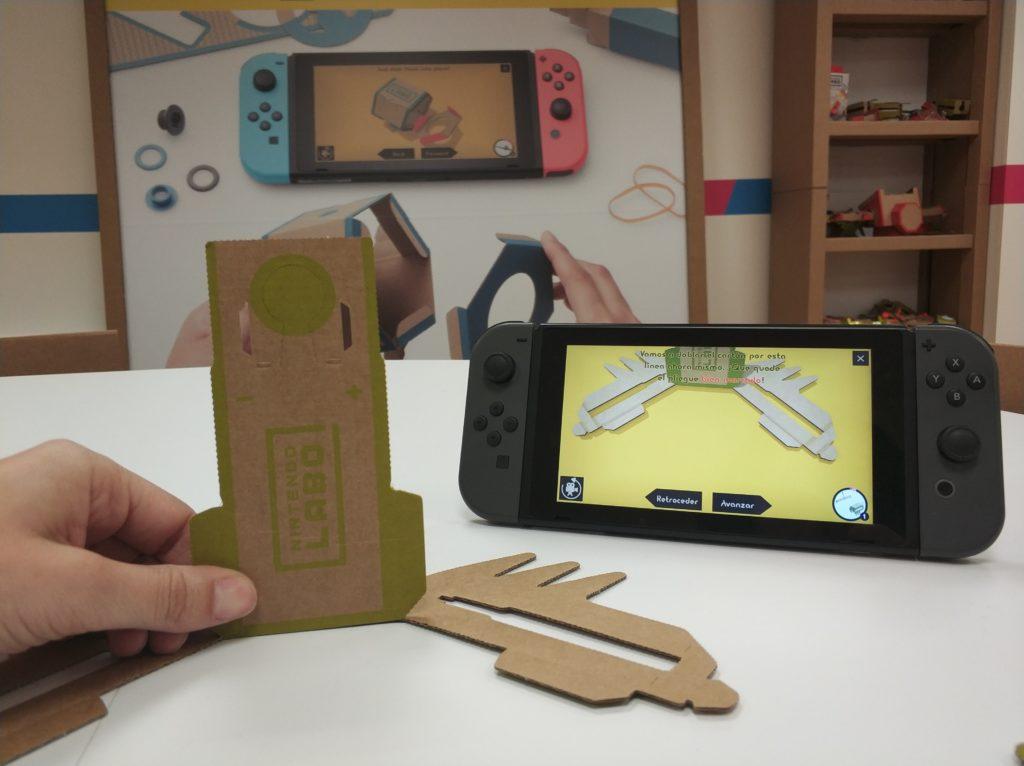 Nintendo Labo Crea antenauta doblar