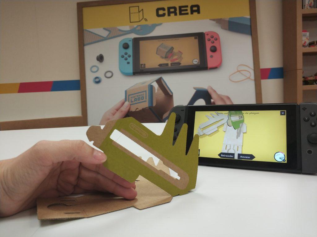 Nintendo Labo antenauta tomando forma