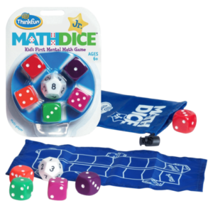 Juego de Mesa Math Dice Jr dados Matemáticas