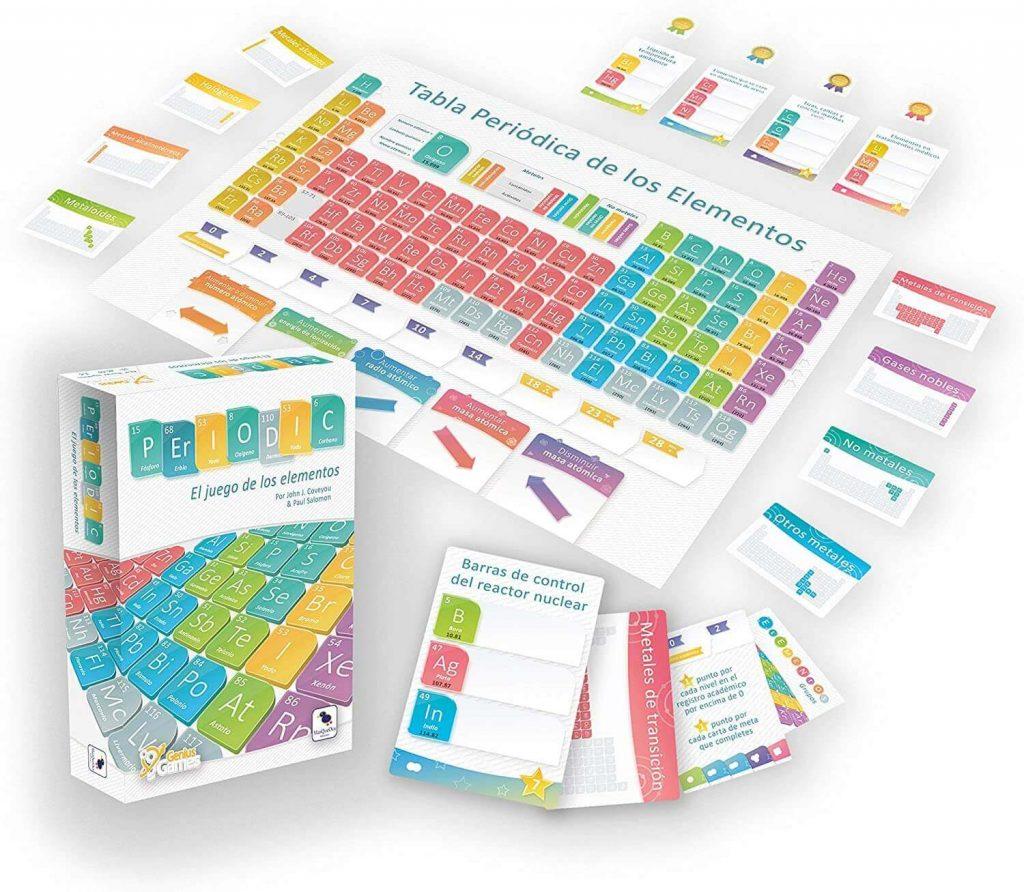 componentes juego de mesa tabla periódica de los elementos Periodic