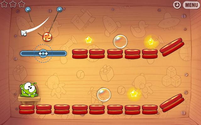 videojuego física Cut the Rope