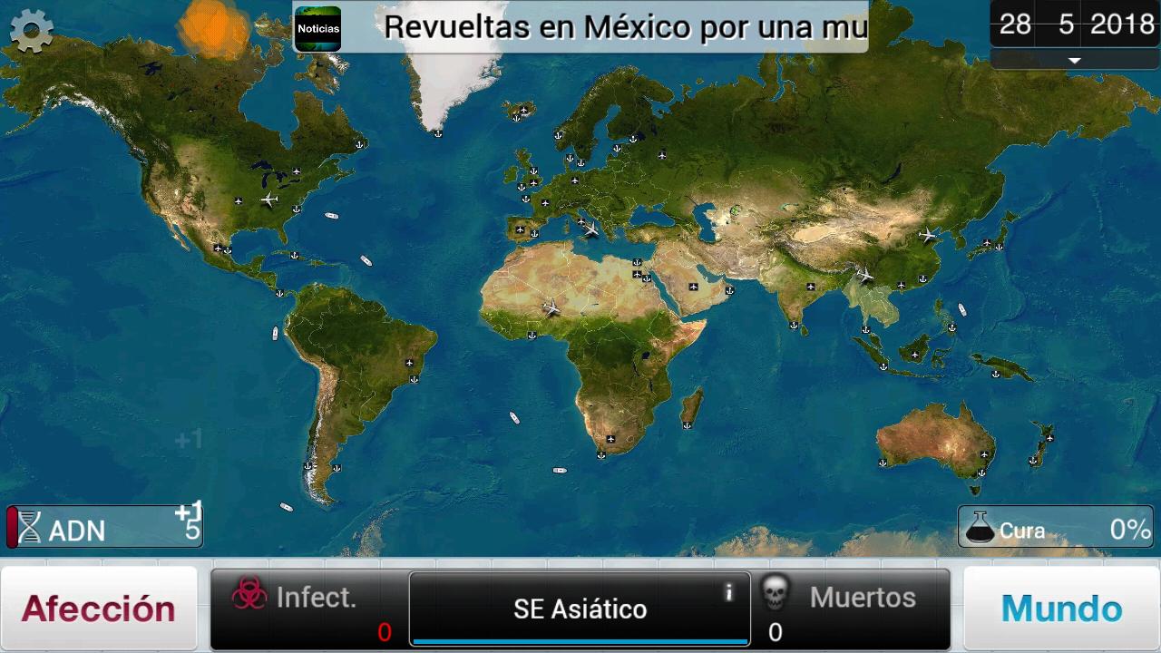 Plague inc videojuego mapa general Naturales aula