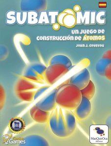 portada juego de mesa Subatomic