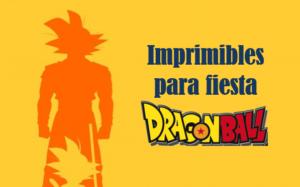 Imprimibles DIY friki Dragon Ball fiesta