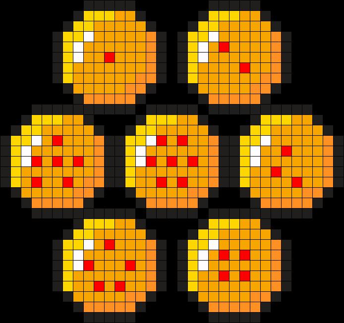 Plantilla bolas de dragón Hamma Beads