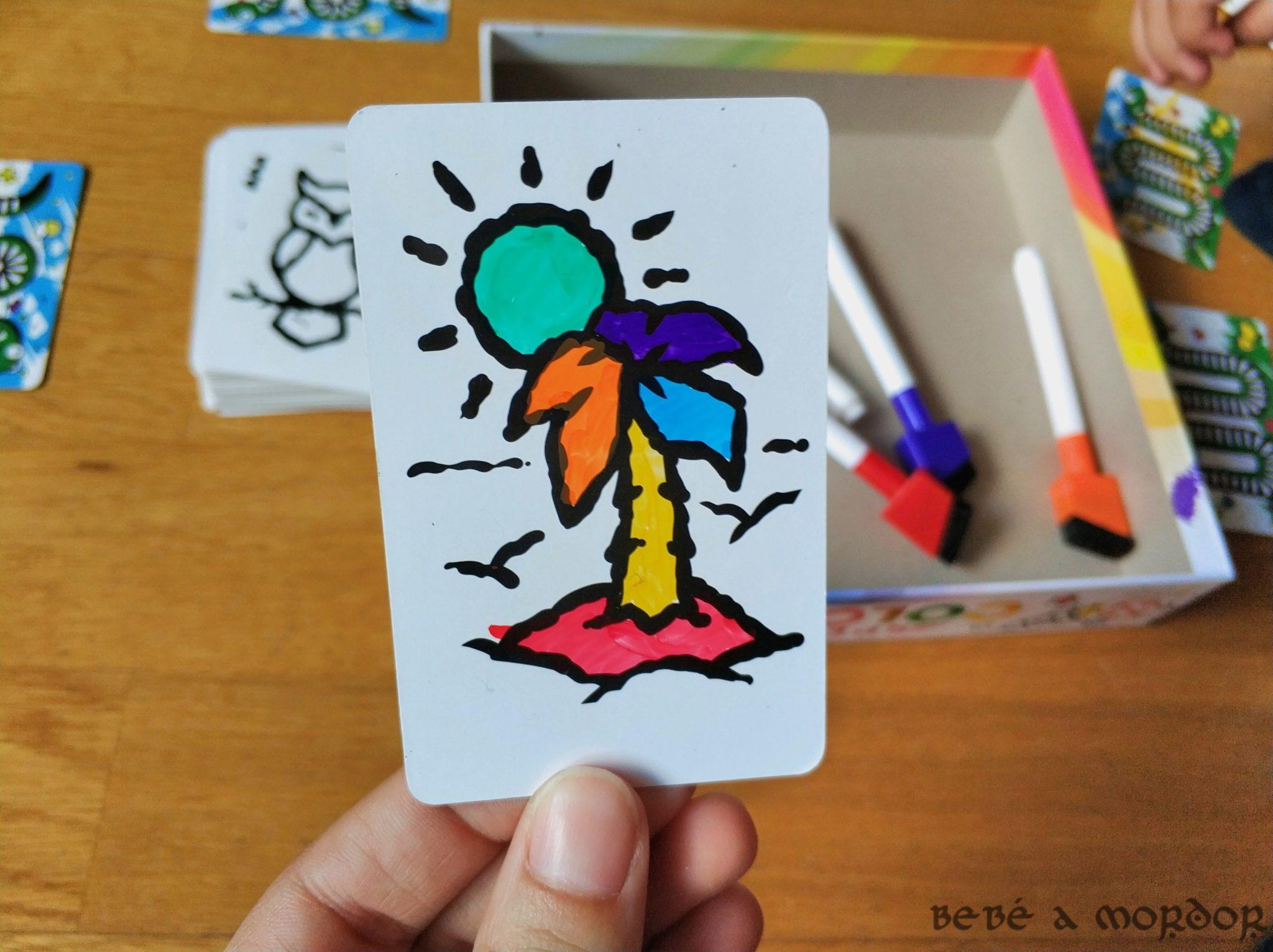 carta Speed Colors colorada con rotuladores