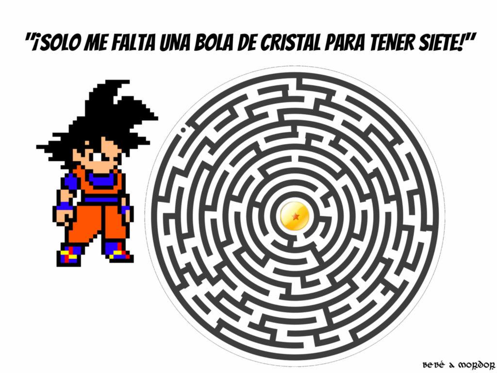 LABERINTO FRIKI BOLA DE DRAGÓN Goku circular
