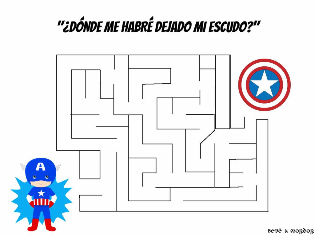 ABERINTO FRIKI CAPITÁN AMÉRICA MARVEL NIÑOS