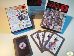 Componentes juego de mesa Los Odiosos 7 cartas