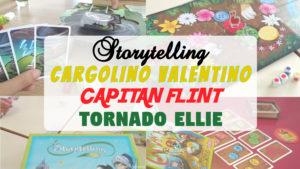 juego de mesa CArgolino Valentino Storytelling Capitán Flint y Tornado Ellie