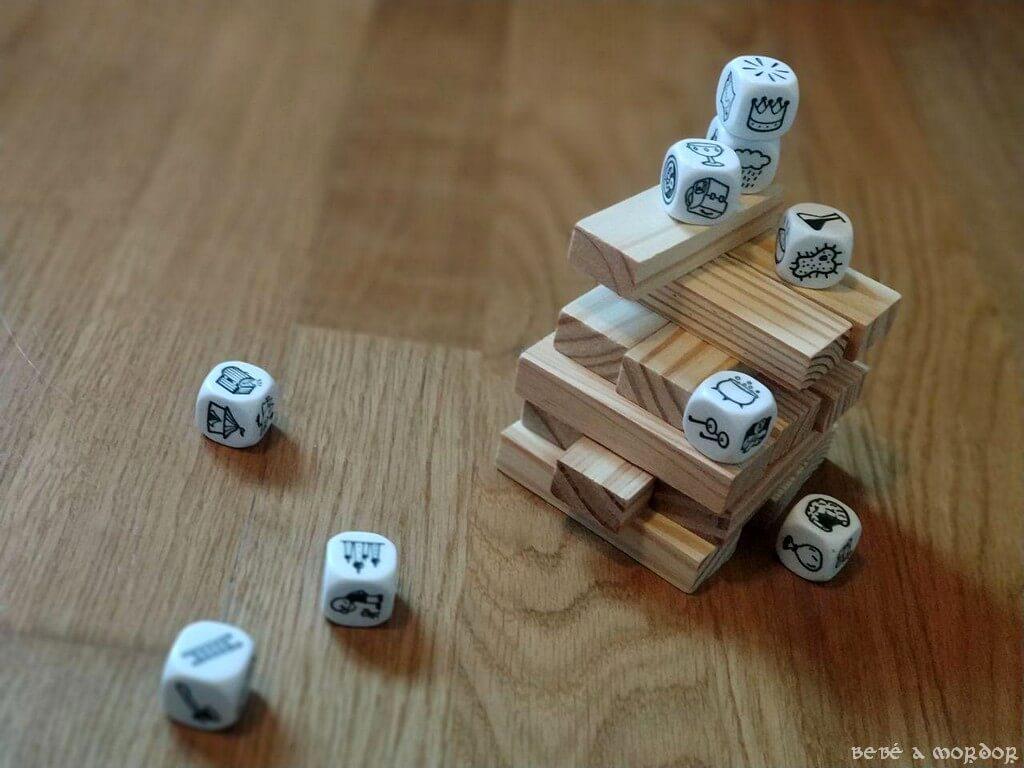 Story Cubes juego Jenga adaptado