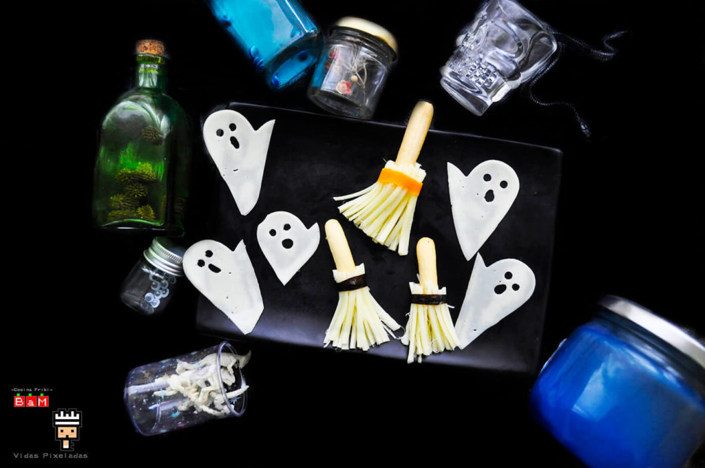 Receta Halloween niños bruja y fantasmas
