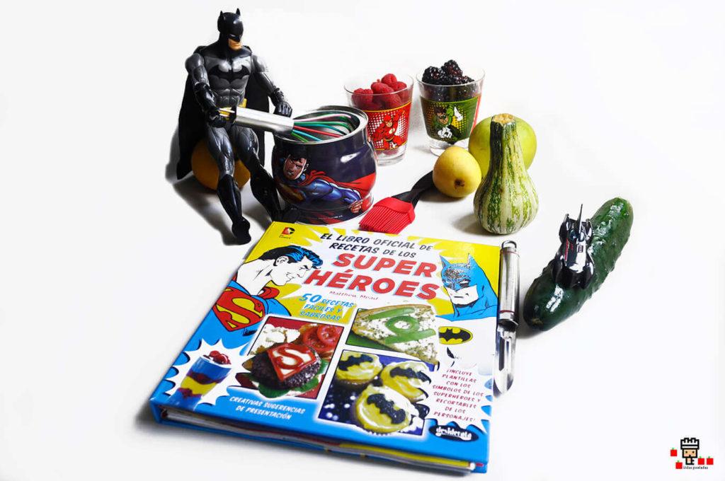 libro oficial de recetas de superhéroes de DC para cocinar con niños