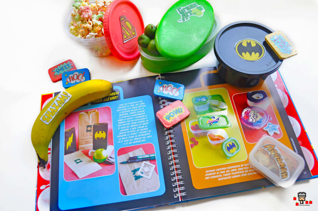 cómo decorar la comida para llevar para niños