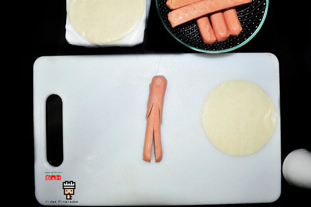 Recetas de Halloween para cocinar con niños Salchimomias 1