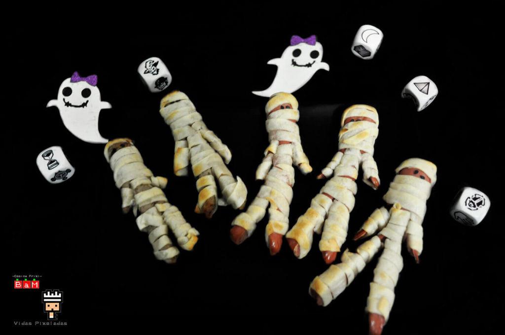 Recetas de Halloween para cocinar con niños Salchimomias