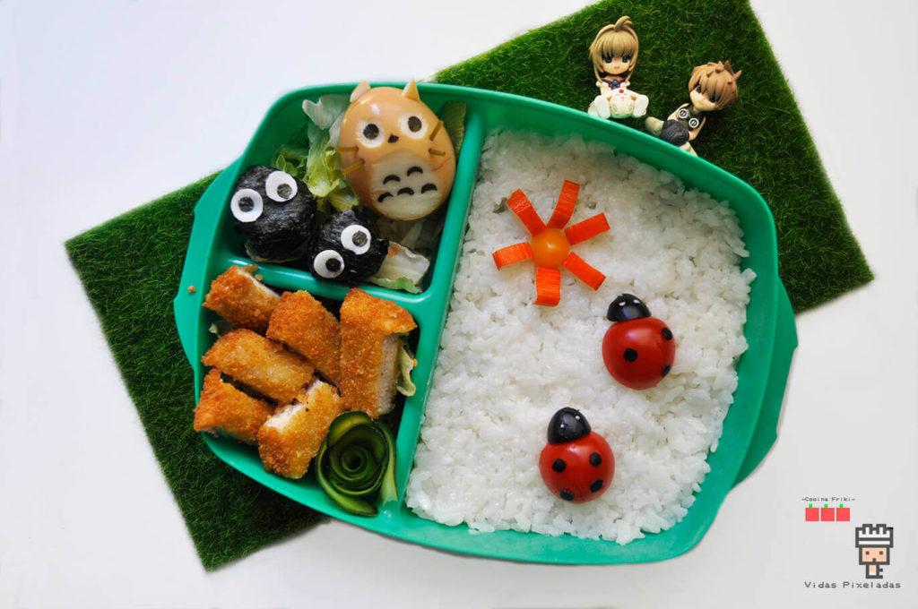 Bento de totoro para niños