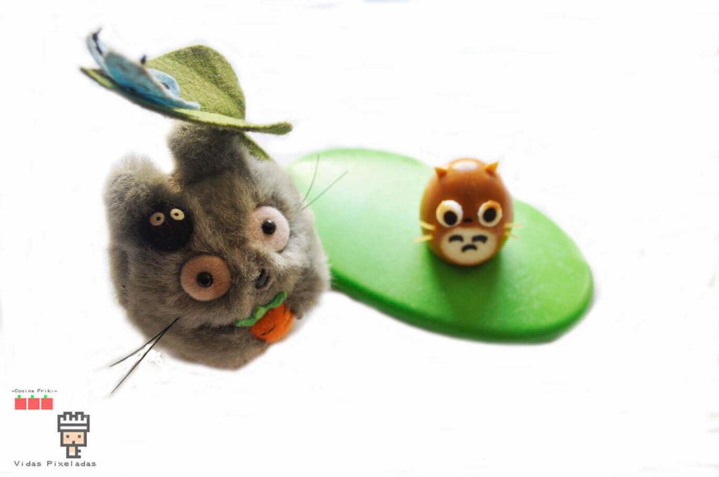 huevo de totoro para bento para niños