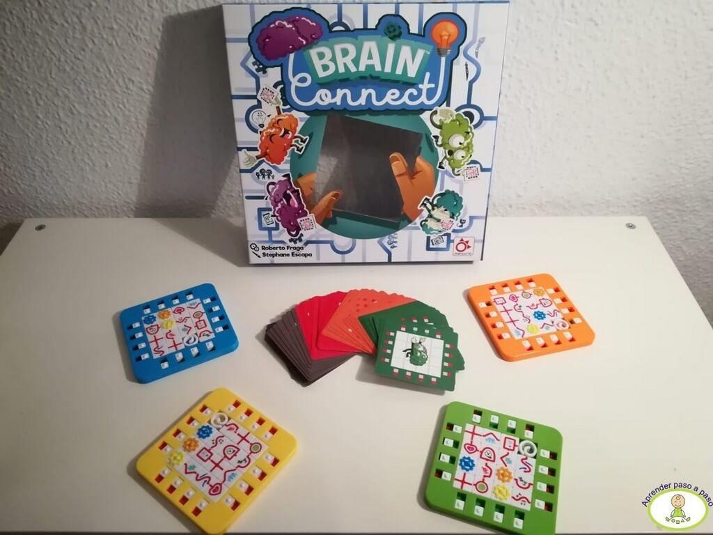 Componentes del juego de mesa Brain Connect