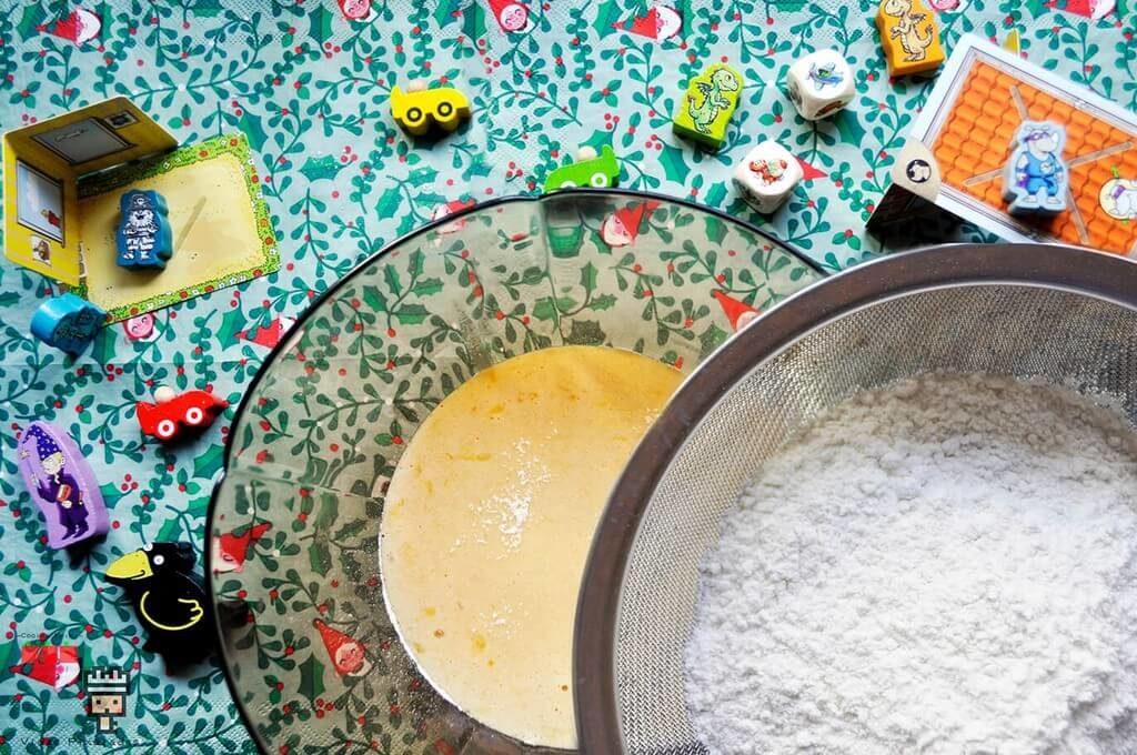 receta swiss roll: harina