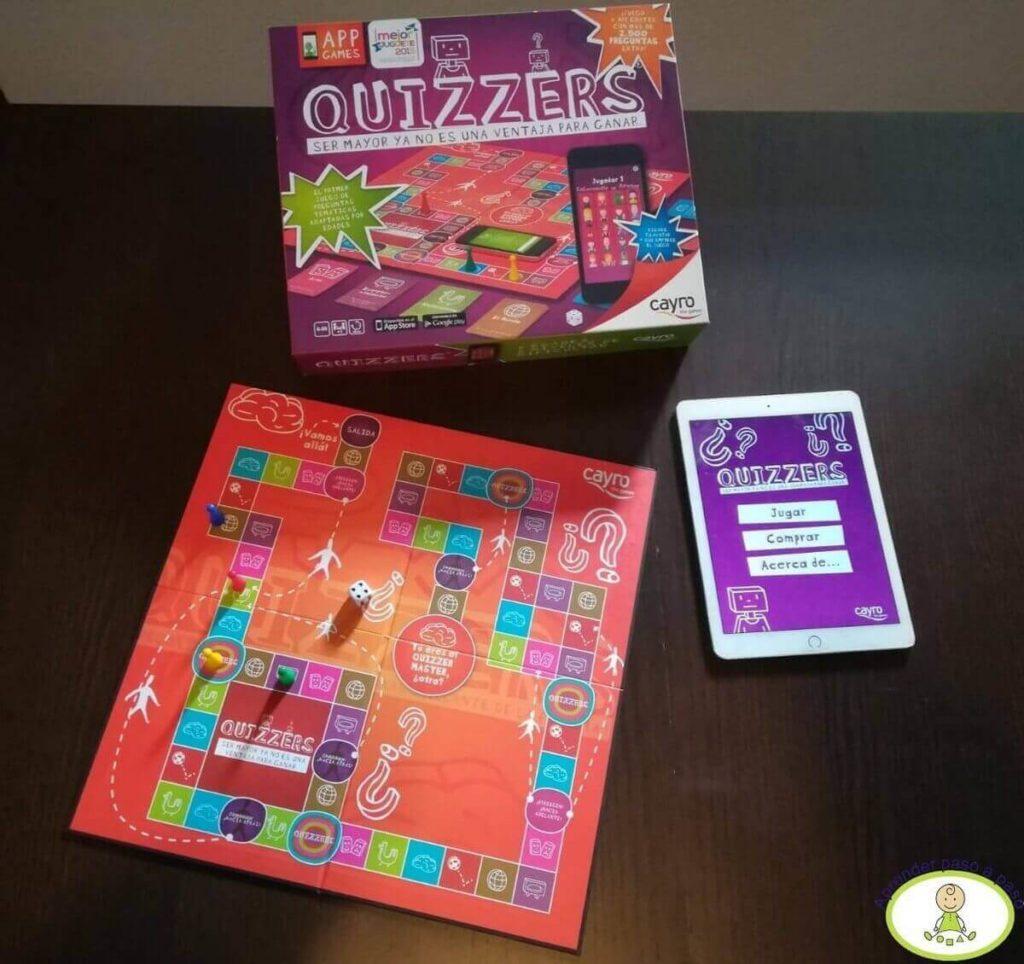 componentes juego de mesa Quizzers de Cayro