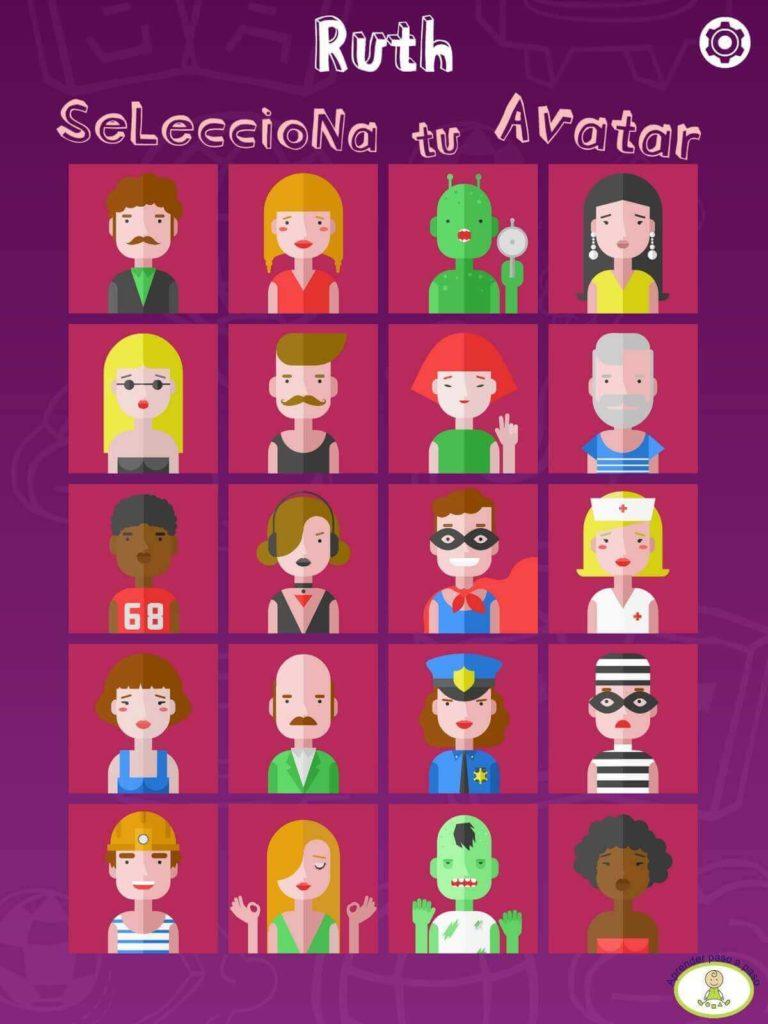 Quizzers elección avatar