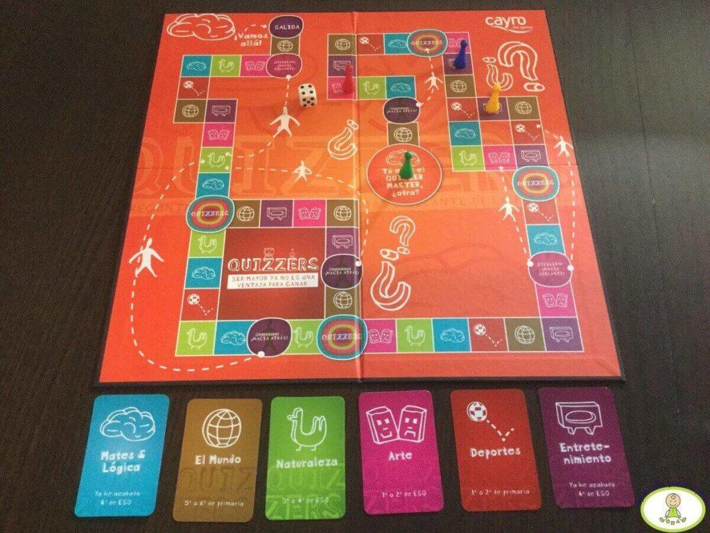 Quizzers tipos de tarjetas incluidas en el juego