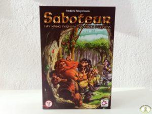 caja del juego de mesa Saboteur Las Minas Perdidas editorial Mercurio