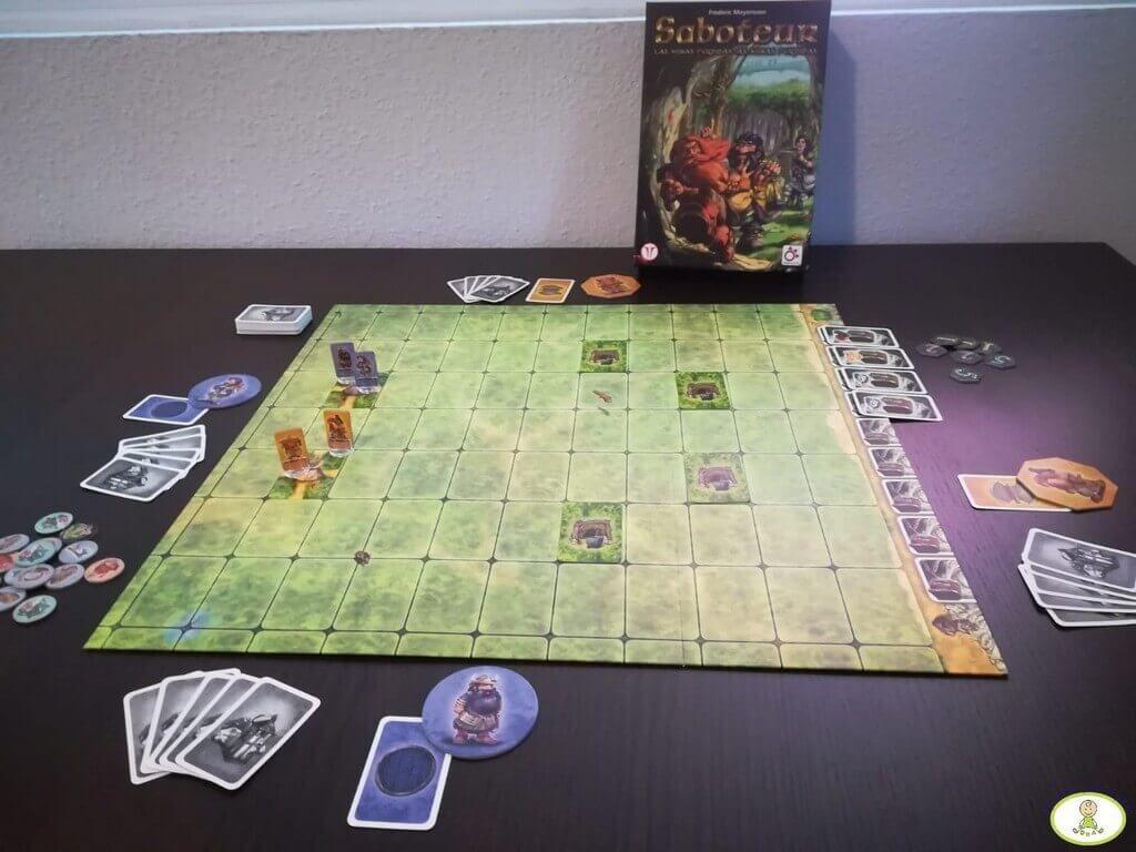 Setup juego de mesa Saboteur Las Minas Perdidas