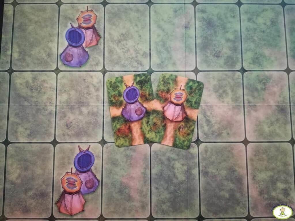 juego de mesa Saboteur tablero cartas de inicio