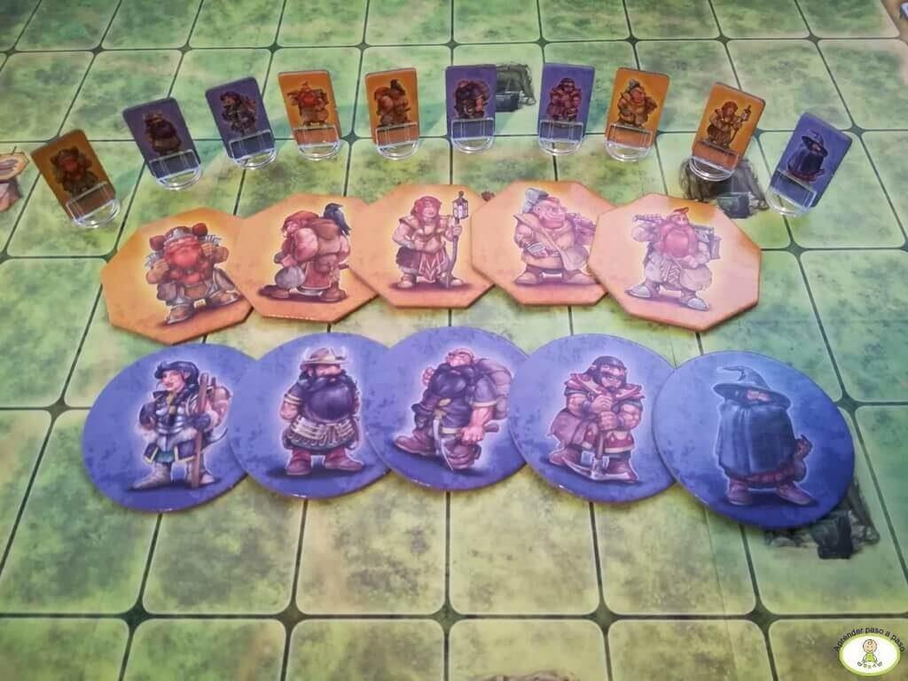Saboteur Las Minas Perdidas fichas de enanos juego de tablero Mercurio