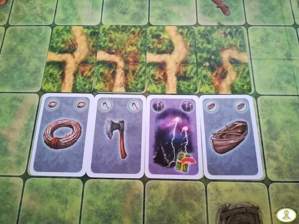 Cartas de camino y de herramientas del juego de tablero Saboteur Mercurio