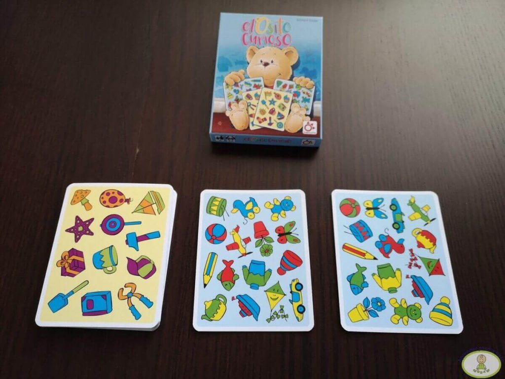 Preparación juego de cartas El Osito Curioso