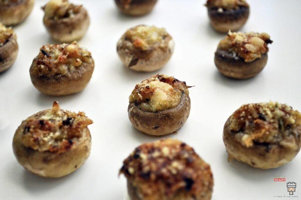 receta de champiñones rellenos