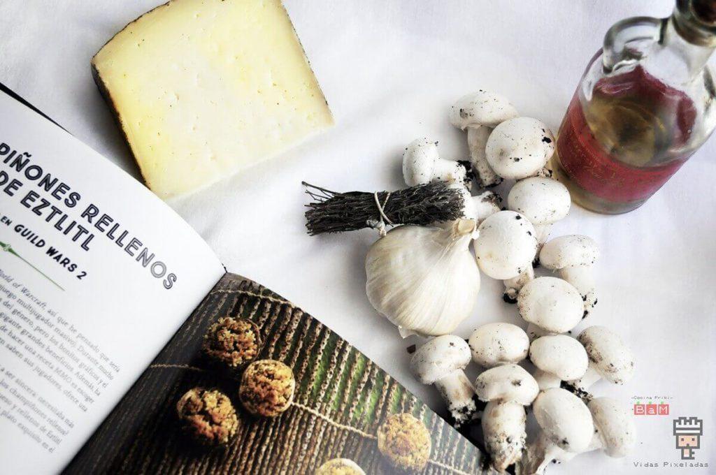 Ingredientes para preparar champiñones rellenos receta