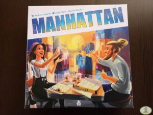 portada caja juego de mesa Manhattan Mercurio