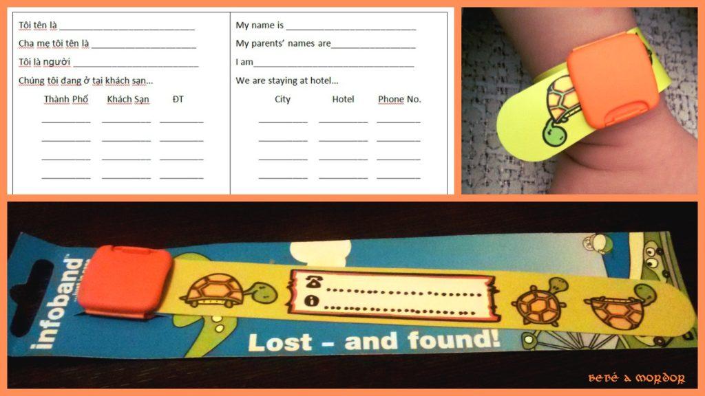 Pulseras identificativas de seguridad para niños Infoband