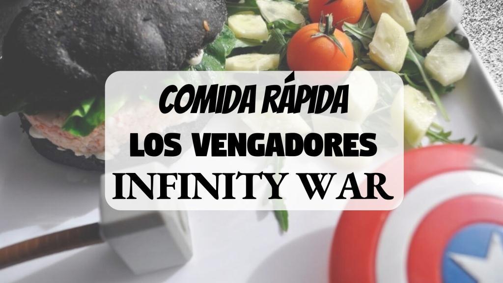 POrtada comida rápida recetas frikis Los Vengadores p