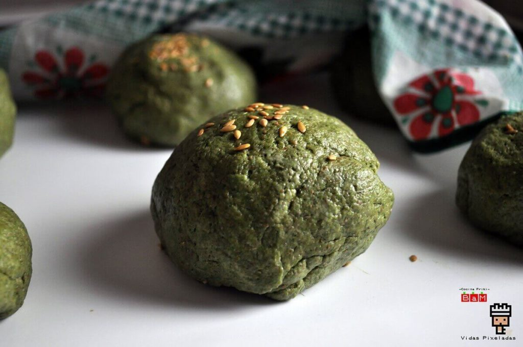 receta de pan verde hamburguesa de Hulk