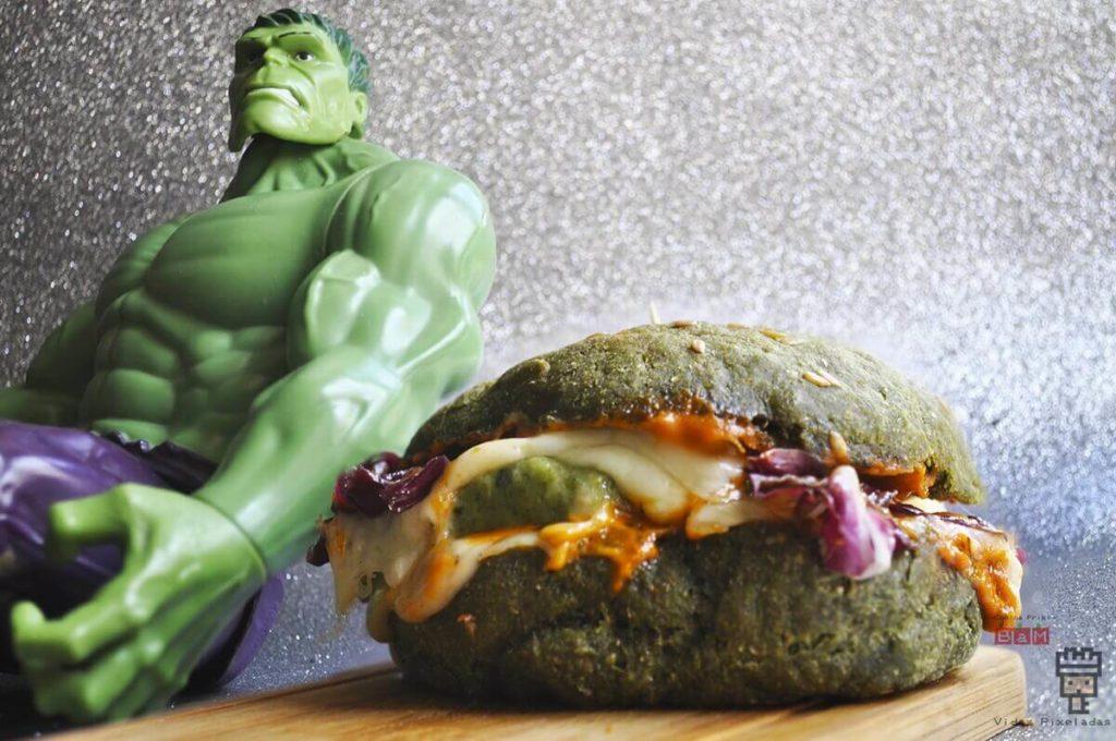 Hamburguesa vegetariana de Hulk