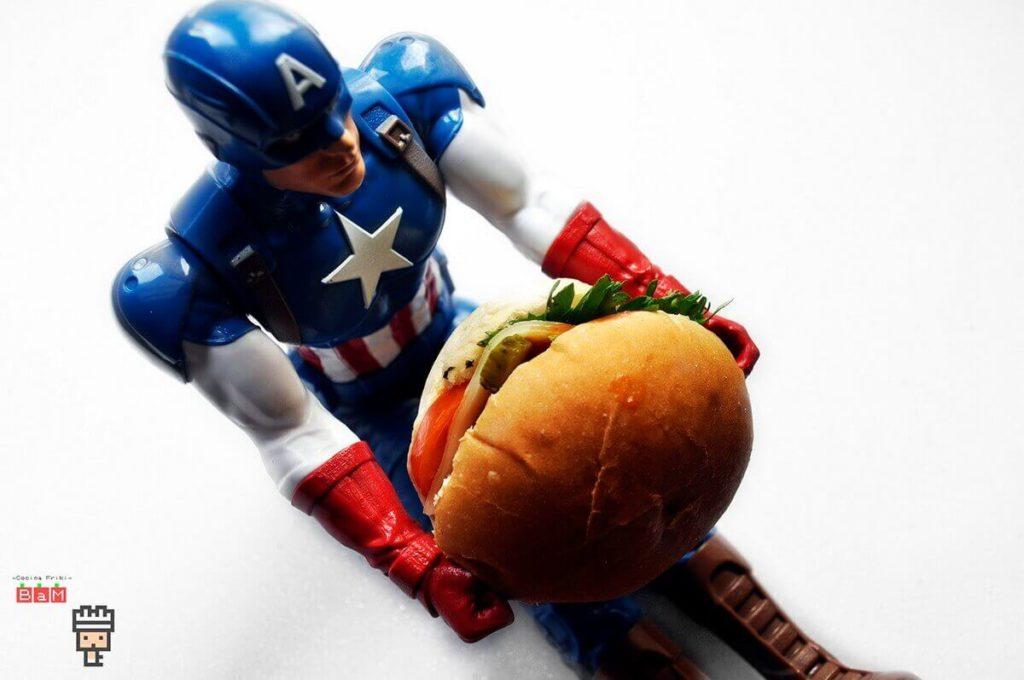 Capitán América hamburguesa