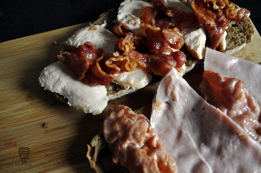 receta preparación sandwich club