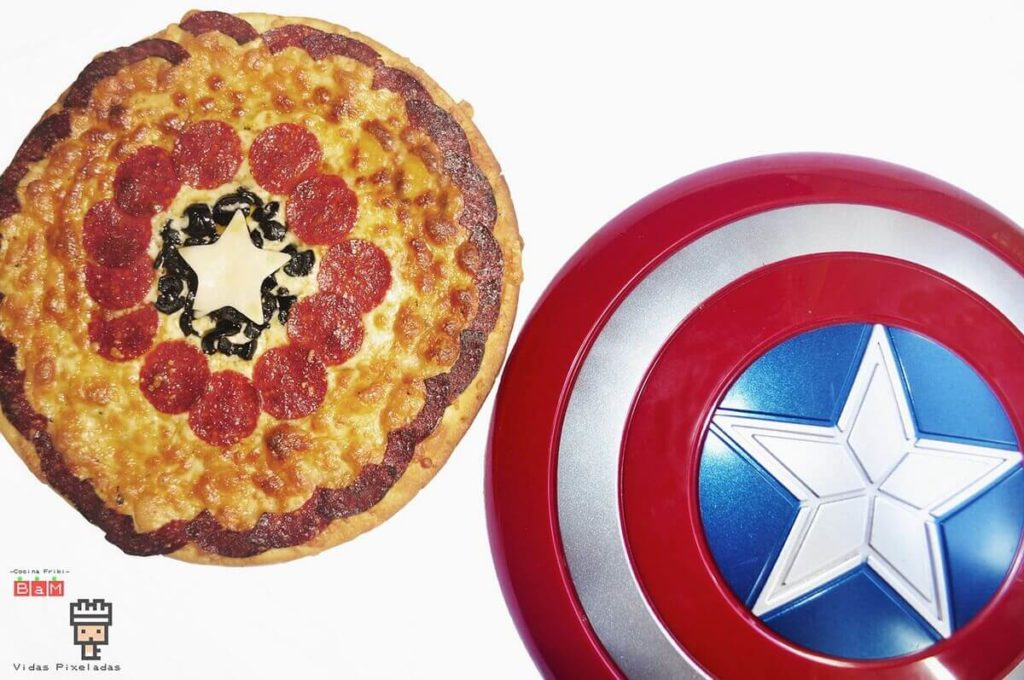 pizza del Capitán América