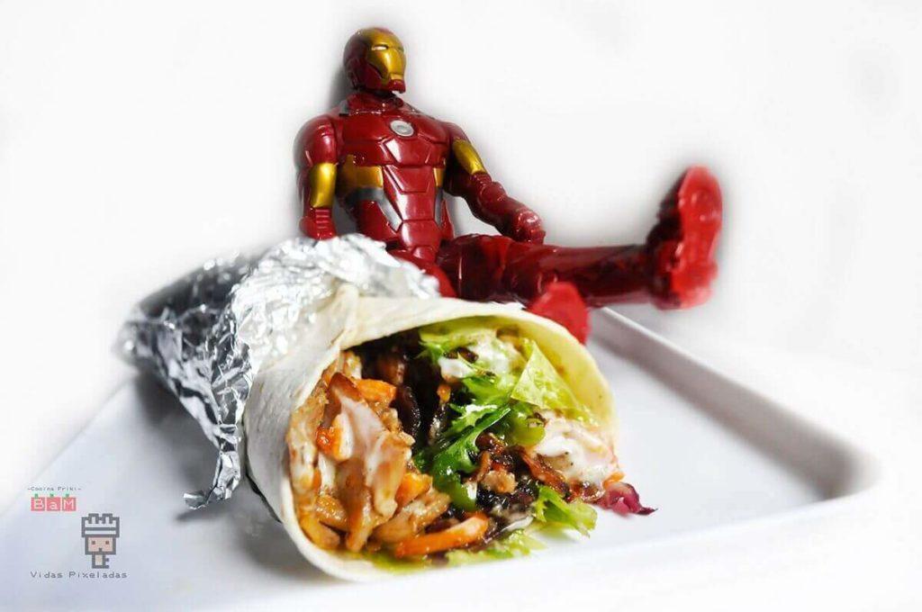 Shawarma de Tony Stark Comida de Los Vengadores