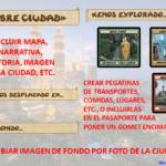Formato tipo de pasaporte lúdico por ciudades